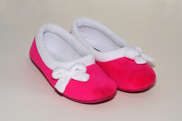 Ladies pink slippers © Arena Photo UK