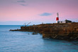 Portland Bill lighthouse on an early morning, Dorset, UK.
