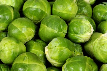 Raw Brussels sprouts © Arena Photo UK