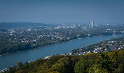 Blick auf Bonn vom Drachenfels Siebengebirge