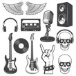 Set of rock and roll music elements. - 73322748
