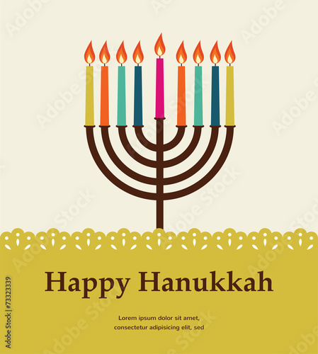 happy hanukkah, jewish holiday.