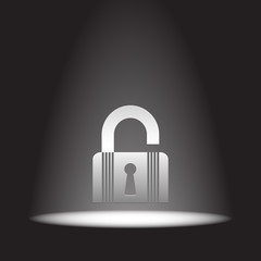 lock open state vector icon