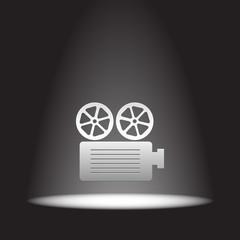 movie projector vector icon