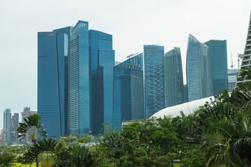 Buildings in Singapore skyline