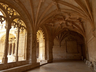 Jeronimos Monastery Cloister arcade corner