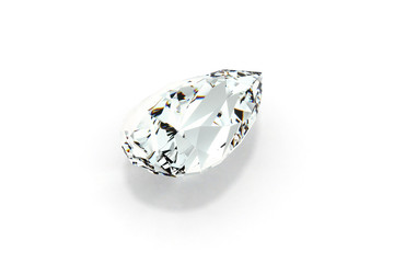 Diamond Pear Cut (Tear Drop), White Background