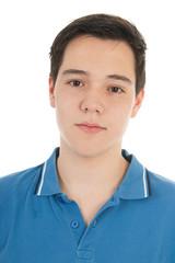 Portrait teen boy