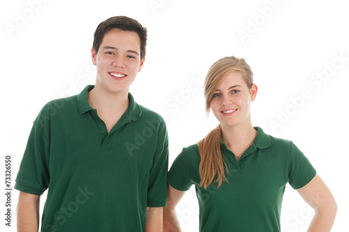 canvas print picture Portrait teen boy and girl