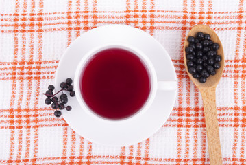 Tea made from berries of black elderberry.