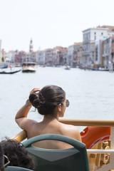 Beautuful girl in Venice