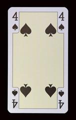 Spielkarten der Ladys - Pik Vier