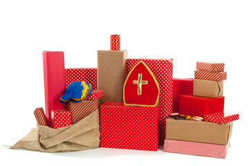 Red gifts for Dutch Sinterklaas