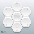Infographics Vector Background Honeycomb Structure 6-step