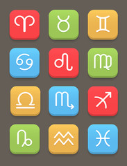 Zodiac icon for web or mobile. Vector