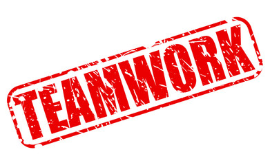 Teamwork red stamp text