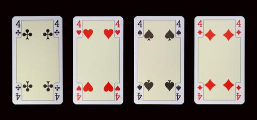 Spielkarten der Ladys - VIER