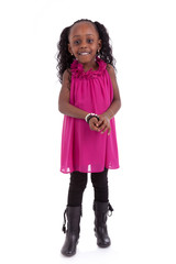 Cute little african american girl smiling - Black people - Child