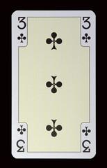 Spielkarten der Ladys - Kreuz Drei