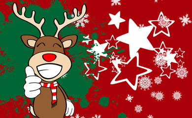 xmas reindeer cartoon expression background9