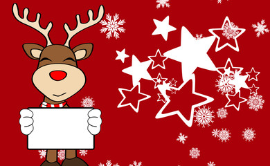 xmas reindeer cartoon expression background6