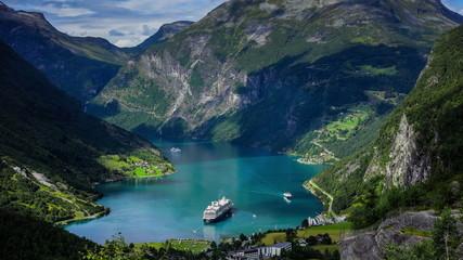 4k, Timelapse, Geiranger fjord, Norway
