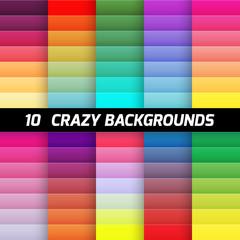 Crazy gradient background pack. Vector element