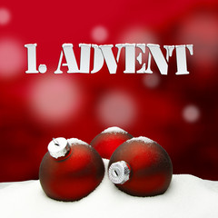 1. Advent - gifts - red - Snow