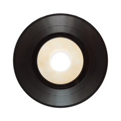 single record isolated on white