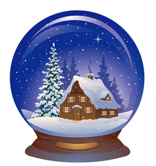Snow globe with a house