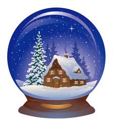Snow globe with a house