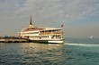 Classic ferryboat of Istanbul at the seaport in early morning