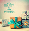 Enjoy the little things with blue handmade gift boxes - 73332997