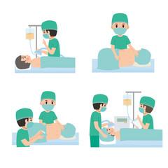 病院 イラスト 麻酔