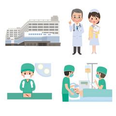 病院 イラスト 手術