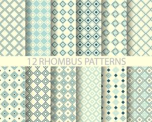 12 navy blue geometric rhombus  pattern 2