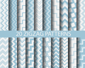 20 blue zigzag patterns