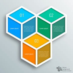 Infographics Vector Background #hexahedron, Cube