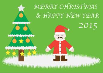 christmas and new year cartoon card