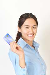 Business people with a credit card