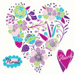 Floral heart. Vector illustration