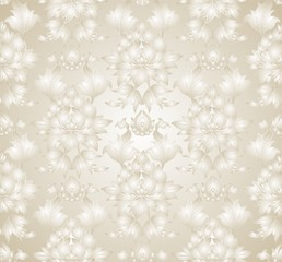 beige floral ornament