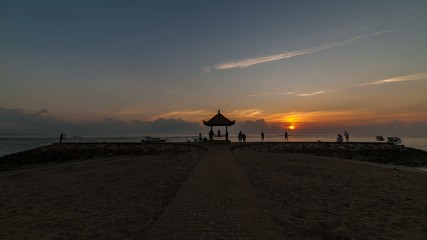 Sunrise Time Lapse at a Beach in Bali