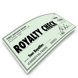 Royalty Check Commission Income Percentage Revenue Sales poster