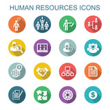 human resources long shadow icons