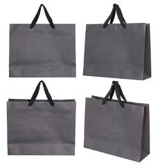 Gray paper bag set
