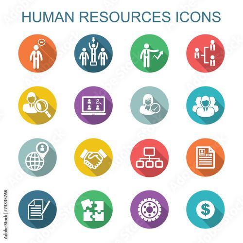 Zdjęcia na płótnie, fototapety, obrazy : human resources long shadow icons