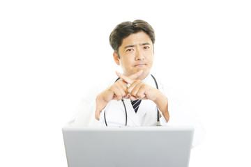 禁止の意思表示をする医師
