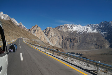On the way from Pasu to Khunjerab Pass,Northern Pakistan