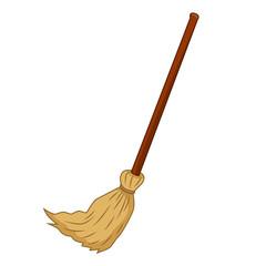 broom isolated illustration